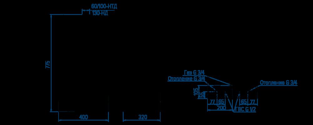 Котел РОСС газовый настенный
