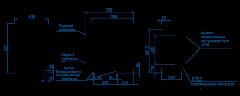Схема напольного электрического котла РОСС АОЕ-72/90