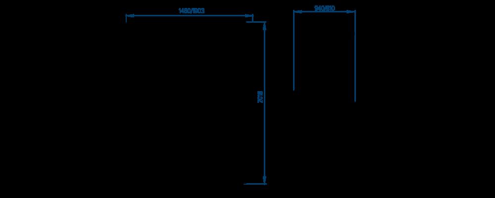 Чертеж шкафа холодильного РОСС Torino-1800
