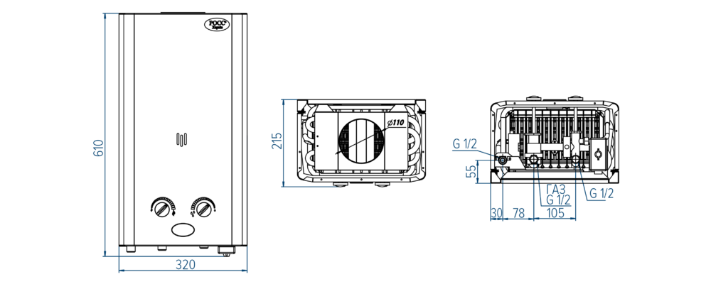 Колонка газовая РОСС
