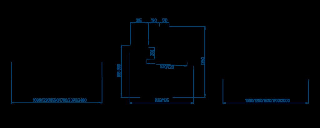 Схема холодильной витрина РОСС Belluno