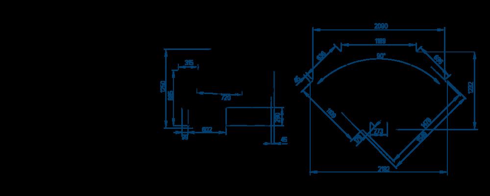 Схема холодильной витрины РОСС Belluno-УВ