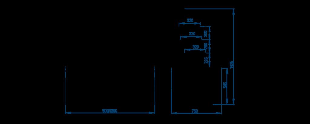 Схема кондитерской витрины РОСС Cremona