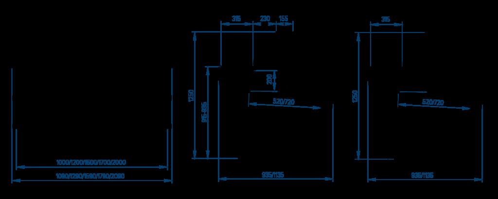 Схема холодильной витрины РОСС Siena