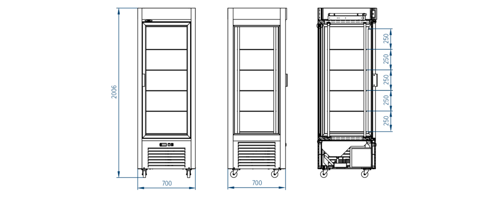 Схема кондитерского холодильного шкафа РОСС Torino