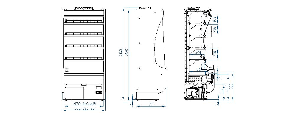 Схема холодильной горки Mirano