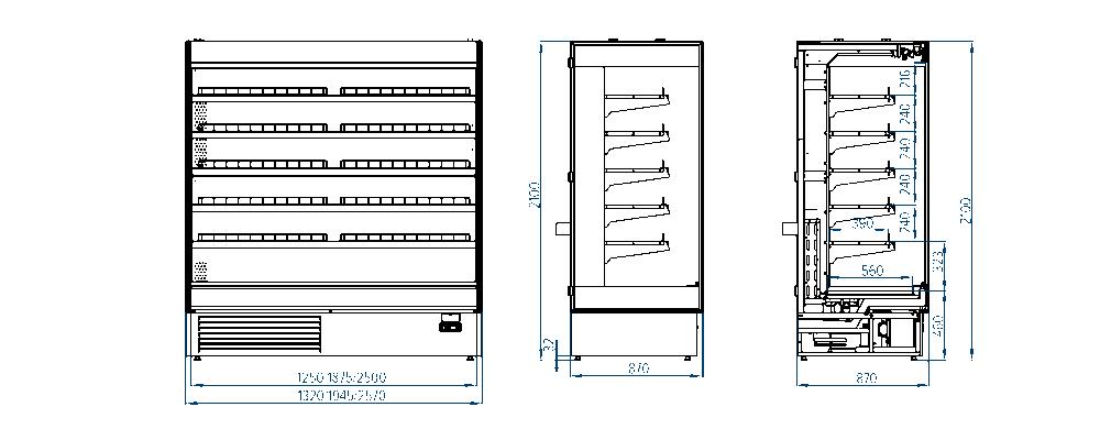 Горка холодильная гастрономическая Modena Cube