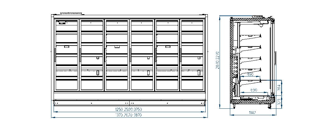 Схема шкафа модульного Paris