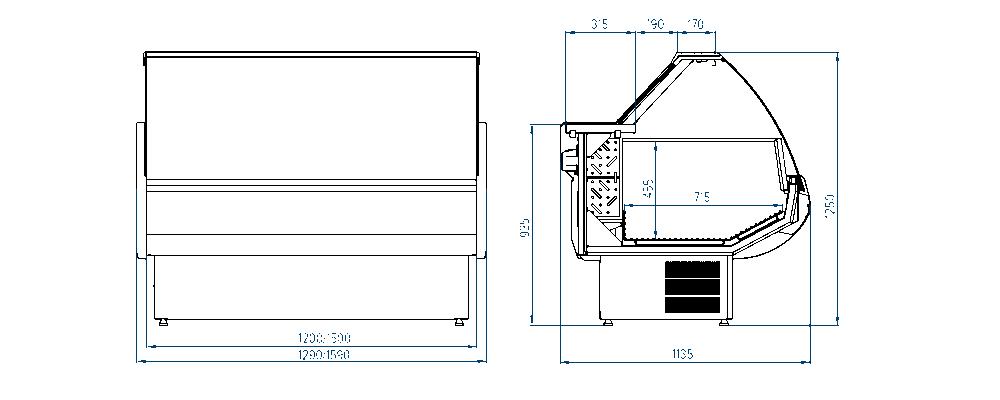Морозильная витрина РОСС Belluno-M