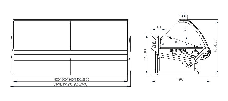 Схема холодильной витрины Florenzia