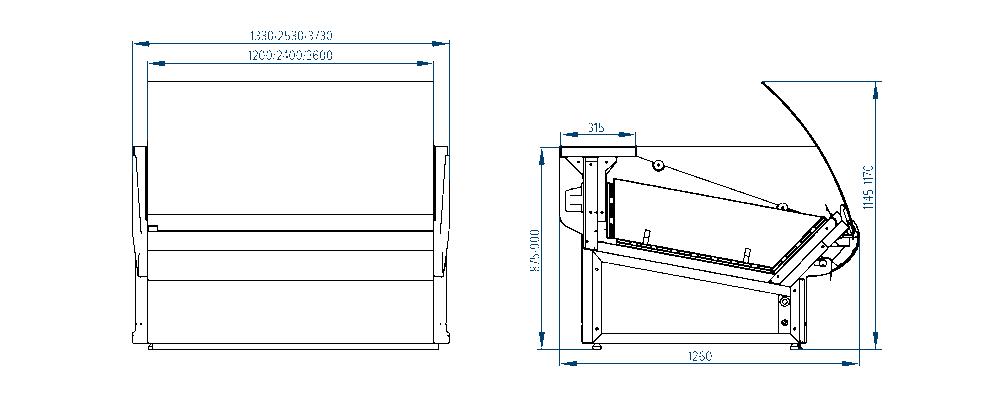 Схема хлебной витрины Florenzia