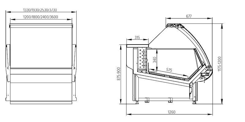 Схема морозильной витрины Florenzia
