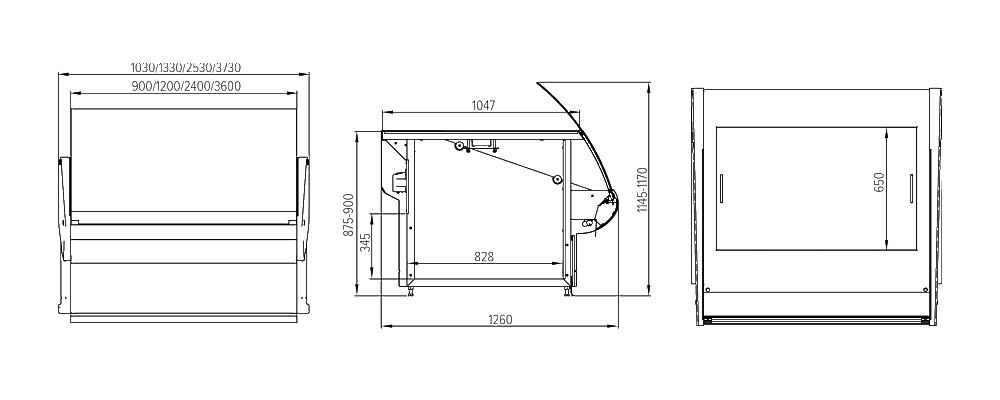 Схема теплового стола Florenzia