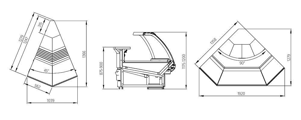 Схема угловых витрин Florenzia УН