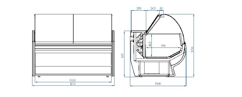 Морозильная витрина РОСС Gold-M