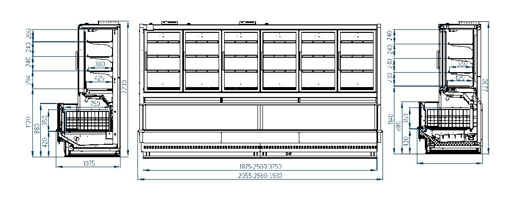 Схема шкафа-боннета Milano