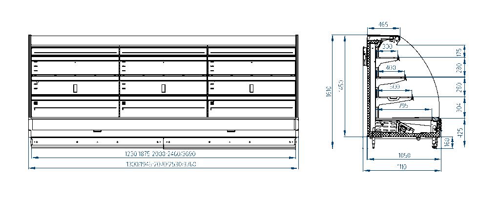 Схема холодильной горки РОСС Palermo