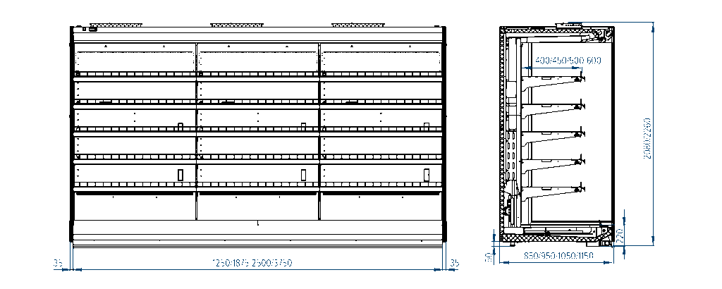 Схема холодильной горки РОСС Praha