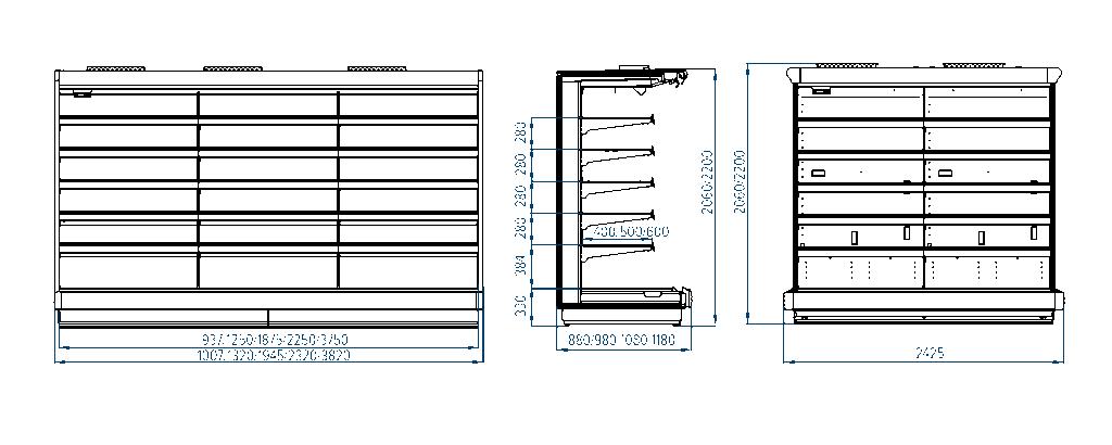 Схема холодильной горки Ravenna