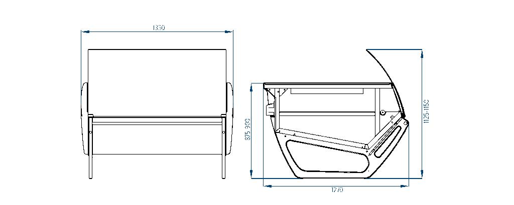 Схема теплового стола San Remo