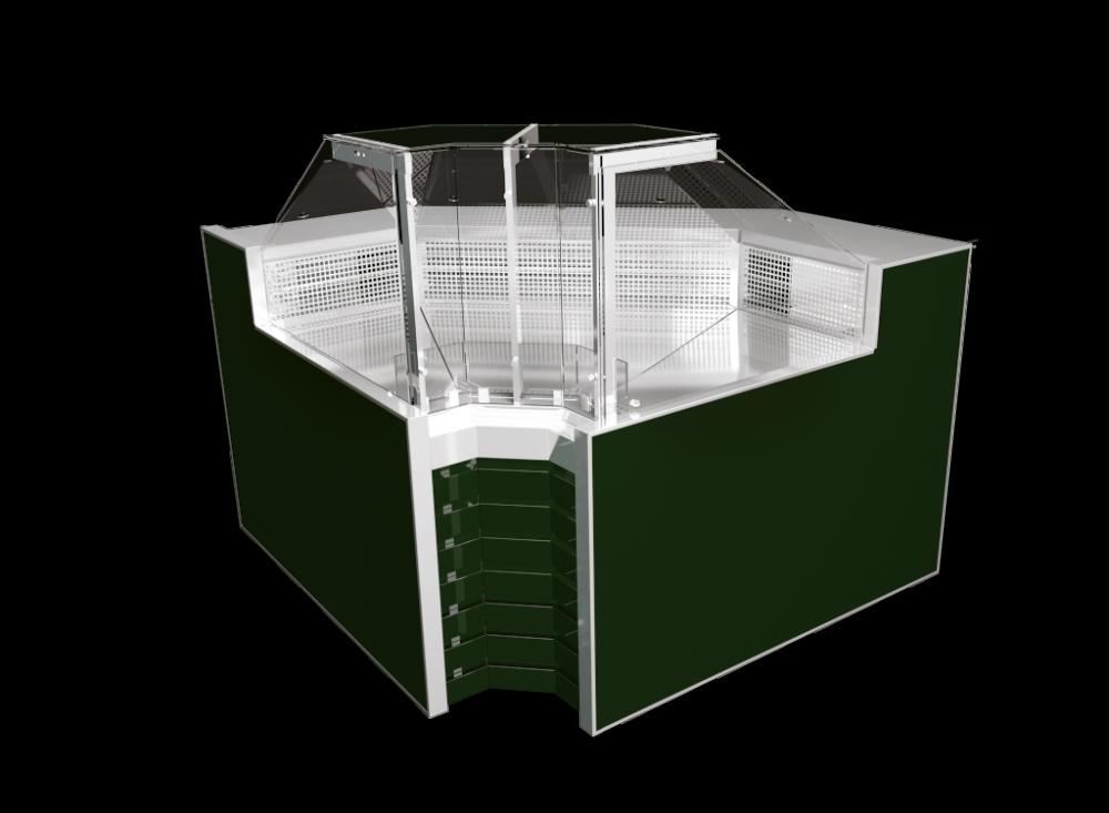 Внутренний угловой элемант витрин Savona Cube