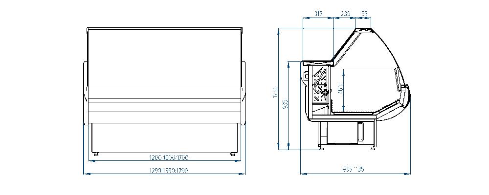 Морозильная витрина РОСС Siena-m