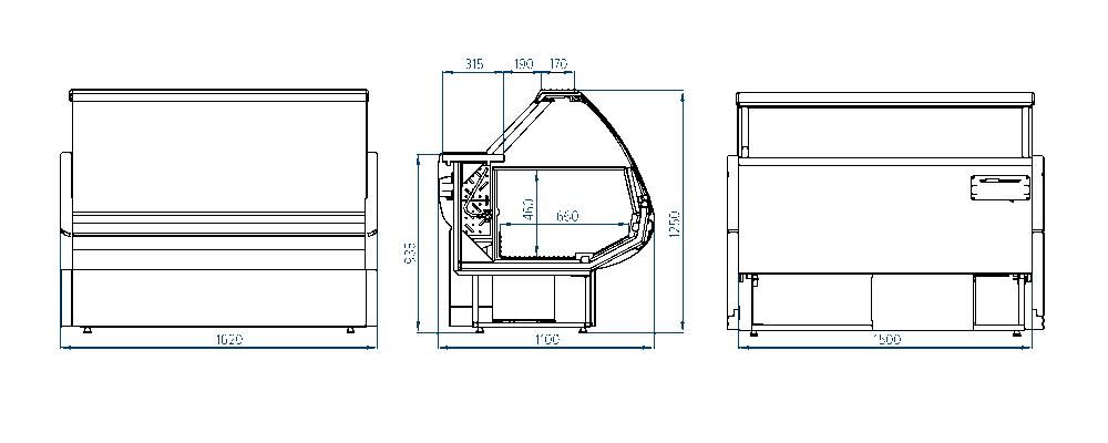Морозильная витрина РОСС Sorrento-m