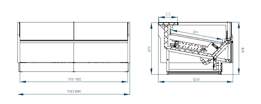 Схема витрины VERONA CUBE рыба на льду