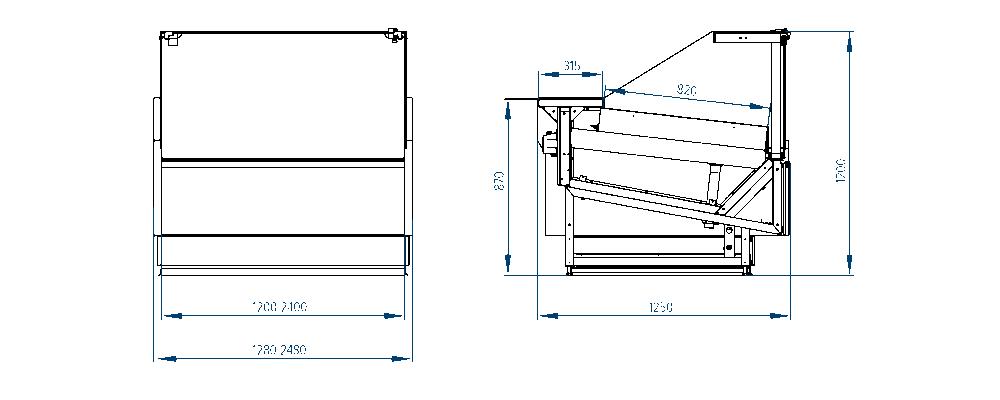 Схема теплового стола Verona Cube