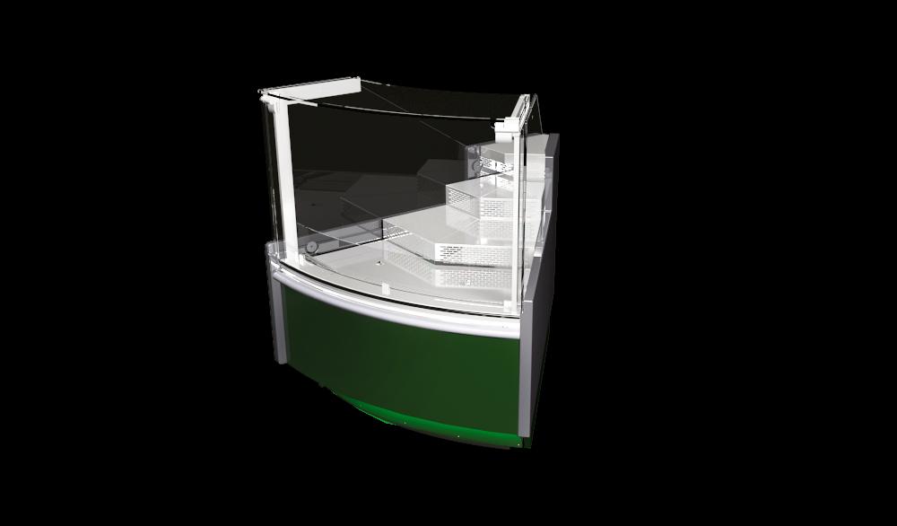 Наружный угловой элемент витрин Verona Cube 45